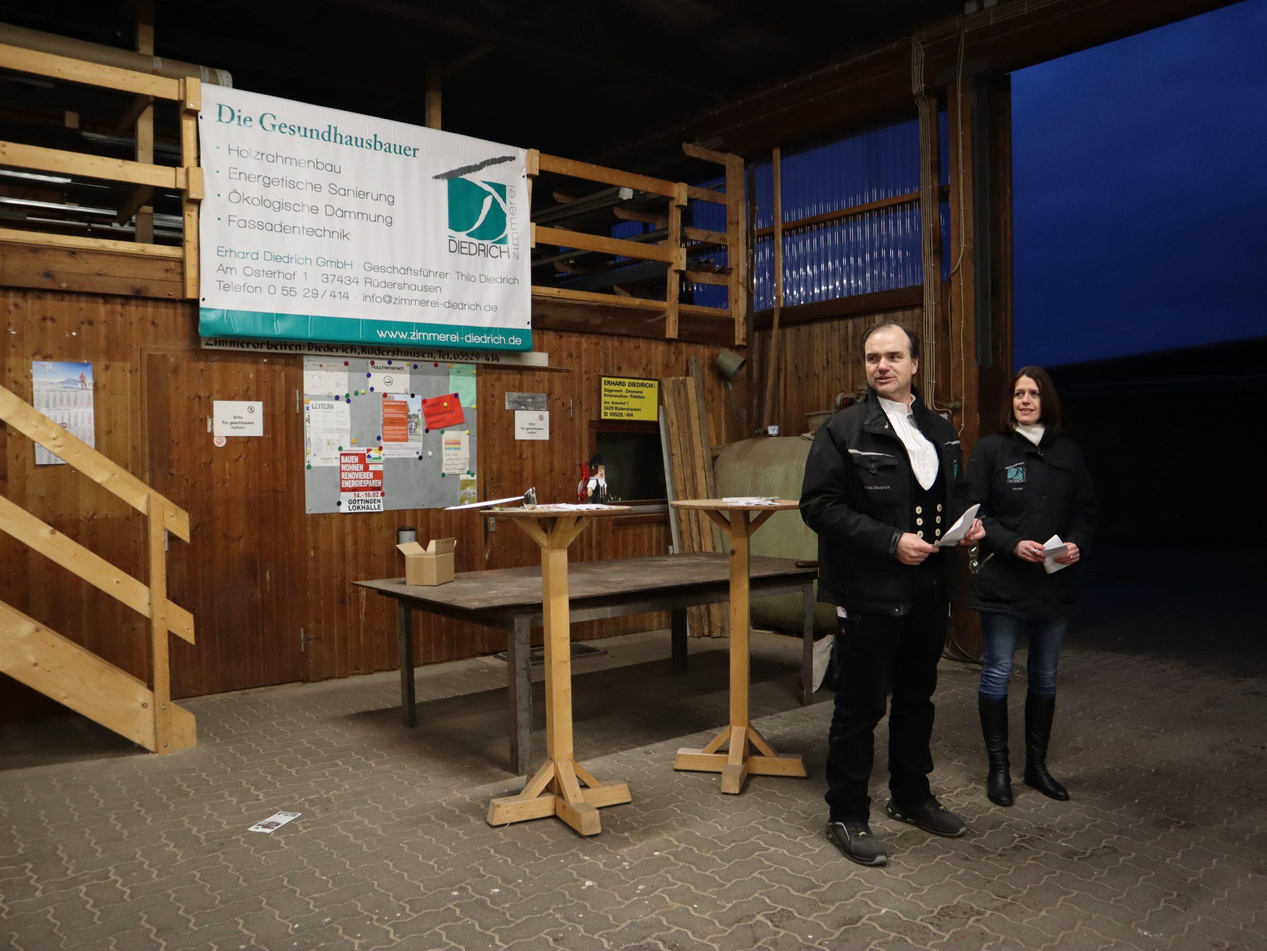 Veranstaltung mit der Zimmerei Diedrich in Rüdershausen